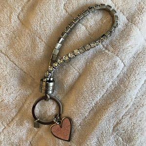 Coach rhinestone bracelet keychain